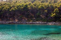 Verano adriático de la isla Imagen de archivo libre de regalías