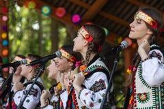 Verano cárpato multicultural de Polonynsky del festival imagen de archivo