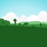 Verano colorido de la silueta libre illustration