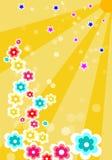 Verano con las flores y las estrellas stock de ilustración