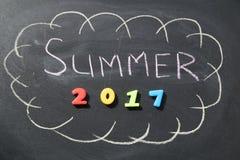 Verano 2017 de la inscripción Imagen de archivo libre de regalías