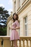 Verano de la moda del vintage tirado de mujer joven Imagen de archivo