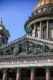 Verano de la opinión de la catedral del ` s del St Isaac fotos de archivo libres de regalías