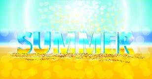 verano de la palabra 3d Fotos de archivo