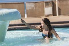 Verano de la piscina de la muchacha Fotos de archivo
