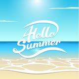 Verano de la playa hola Imagen de archivo