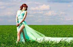 Verano de la primavera de la muchacha Imagen de archivo libre de regalías