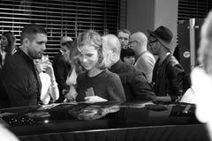 verano 2015 de la primavera de la semana de la moda de Milán del herzigova de Eva Foto de archivo libre de regalías