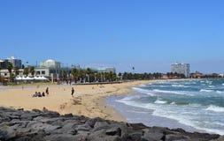 Verano del St Kilda Beach de Melbourne Foto de archivo