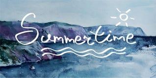 verano deletreado stock de ilustración