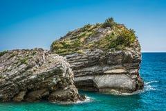 Verano en Budva, Montenegro Foto de archivo libre de regalías