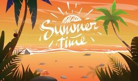 Verano en costa del océano libre illustration