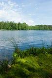 Verano en el lago del bosque Fotos de archivo