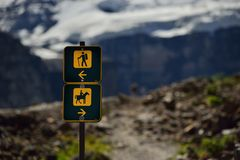 Verano en el parque nacional, montañas de las montañas rocosas Fotos de archivo