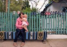 Verano en el pueblo Foto de archivo libre de regalías