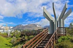 Verano en la ciudad más situada más al sur del ` s del mundo, Ushuaia Imagenes de archivo