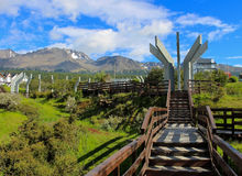 Verano en la ciudad más situada más al sur del ` s del mundo, Ushuaia Fotografía de archivo