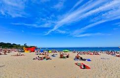 Verano en la playa de Coogee, Sydney, Australia Imágenes de archivo libres de regalías