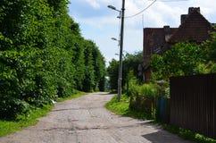 Verano en suburbio viejo Fotografía de archivo
