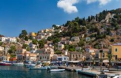 Verano en Symi, Grecia imagen de archivo