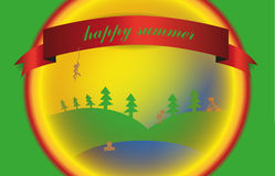 Verano feliz Imágenes de archivo libres de regalías