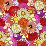 Verano hermoso adornado stock de ilustración