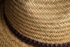 Verano marrón claro Straw Hat Fotos de archivo libres de regalías