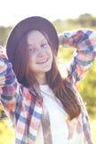 Verano - muchacha al aire libre Imágenes de archivo libres de regalías