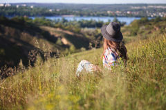 Verano - muchacha al aire libre Foto de archivo