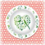Verano Placa blanca con los ornamentos florales Fotografía de archivo libre de regalías