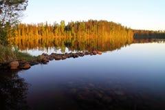Verano por el lago Melkutin 2 Fotos de archivo libres de regalías