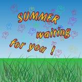 verano que le espera El vector coloreó el fondo stock de ilustración