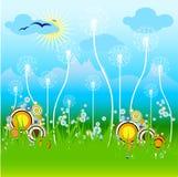 Verano/resorte del vector Imagen de archivo libre de regalías