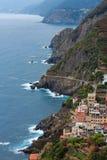 Verano Riomaggiore, Cinque Terre Imagen de archivo libre de regalías