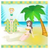 Verano, sol, playa Fotografía de archivo libre de regalías
