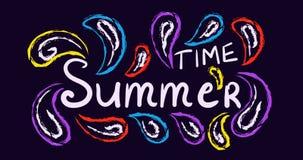 Verano tradicional, cartel del concepto del carnaval libre illustration