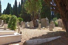 Veranobegraafplaats, Joodse graven Stock Afbeelding