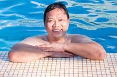Veranos en la piscina Fotografía de archivo libre de regalías
