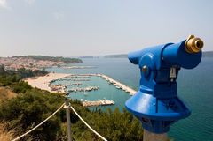 Veranschaulichung bei Pylos in Griechenland stockbilder