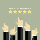 Veranschlagen Sie unser Service-Plakat lizenzfreie abbildung