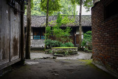 Verant courtyard of ancient Chinese dwelling building Royalty Free Stock Photography