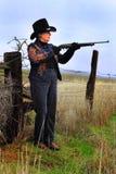 Verantwortliche Dame Gunman Lizenzfreie Stockfotos