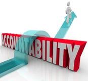 Verantwortlichkeit Person Running von der Verantwortung Lizenzfreie Stockfotografie