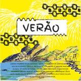 Verao sommarportugistext Arkivfoton