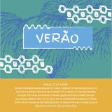 Verao, texto do português do verão Fotos de Stock Royalty Free