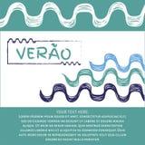 Verao, texto do português do verão Imagens de Stock Royalty Free