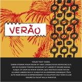 Verao, texto do português do verão Imagem de Stock