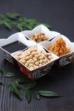 Verarbeitete Nahrungsmittel Japaneese traditionelle Sojabohne Stockfotos