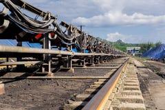 Verarbeitung in der Kohlengrube Stockfoto