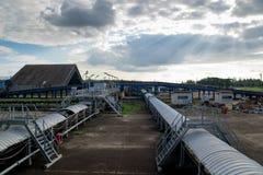 Verarbeitung in der Kohlengrube Lizenzfreies Stockfoto